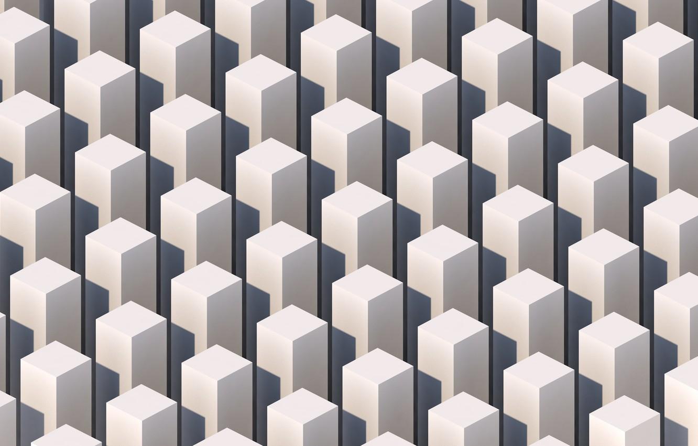 Фото обои абстракция, графика, куб