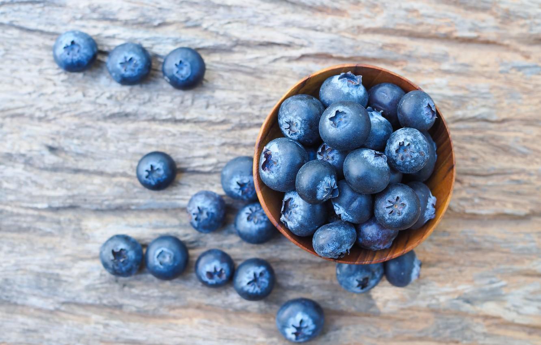 Фото обои blueberry, berries, ягоды, wood, голубика, fresh, черника