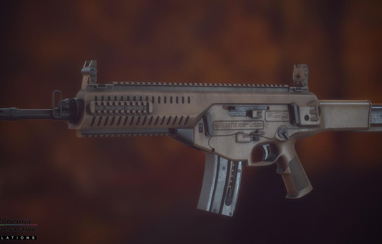 Фото обои рендеринг, оружие, Автомат, weapon, render, Беретта, Beretta, штурмовая винтовка, Assault rifle, Beretta ARX 160, 160, …