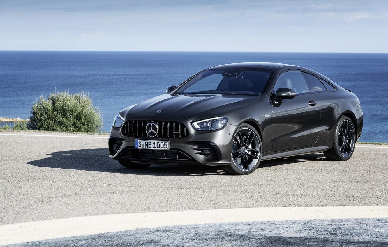 Фото обои чёрный, купе, Mercedes-Benz, Coupe, 4MATIC, 2020, Worldwide, E 53
