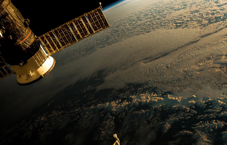 Фото обои космос, полёт, плоская земля