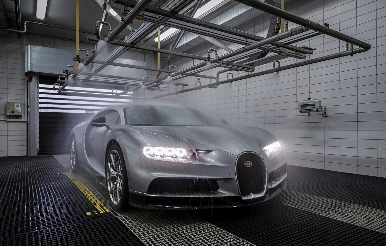Фото обои Bugatti, душ, Chiron