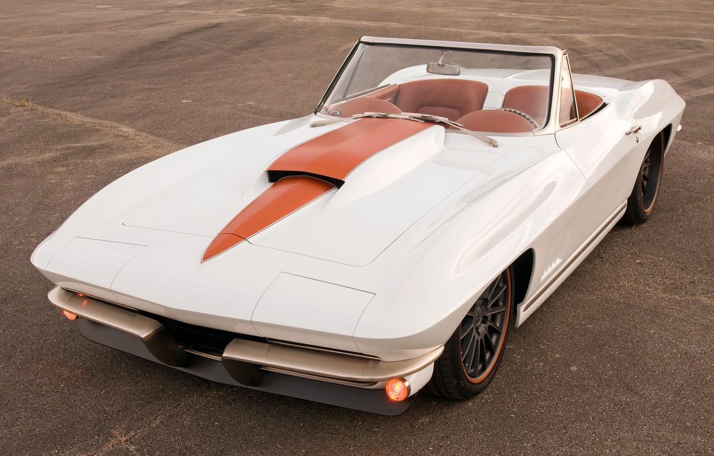 Фото обои Corvette, Chevrolet, White, Tuning