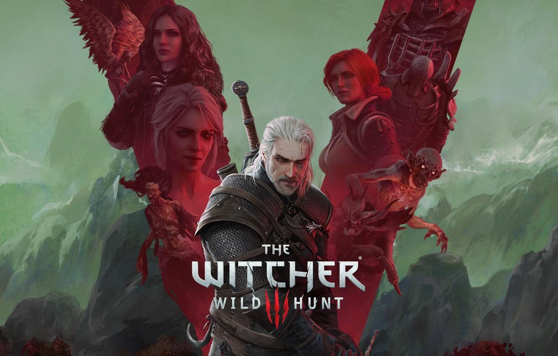 Фото обои игры, ведьмак, games, rpg, геральт, трисс, geralt, юбилей, cd project red, witcher 3, witcher 3: …
