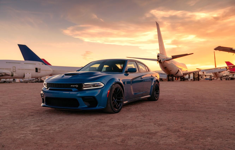 Фото обои машина, самолеты, оптика, Dodge, Charger, Hellcat, SRT