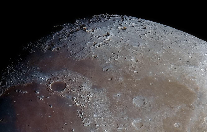 Фото обои Луна, Moon, кратеры, моря, Matt Smith, craters, seas