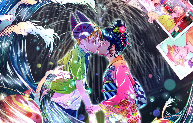 Фото обои романтика, поцелуй, пара, двое