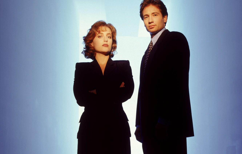 Фото обои сериал, The X-Files, Секретные материалы, ДэвидДуховны, ФоксМалдер, ДжиллианАндерсон, ДанаСкалли