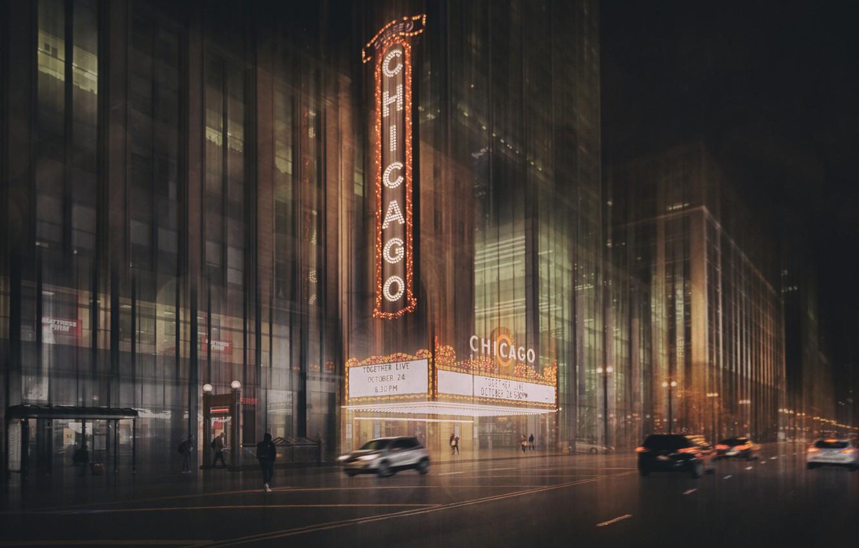 Фото обои lights, огни, движение, улица, здания, автомобили, cars, street, traffic, buildings, Roswitha Schleicher-Schwarz