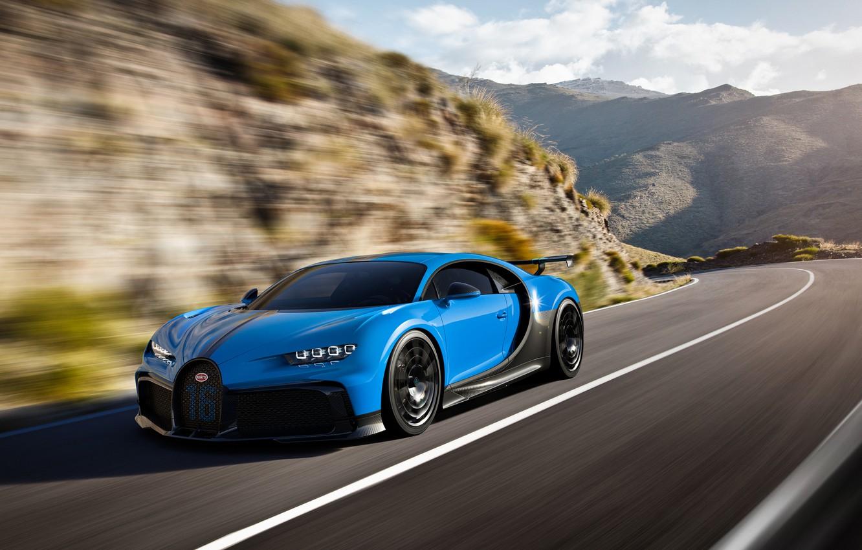 Фото обои скорость, Bugatti, гиперкар, Chiron, 2020, Pur Sport