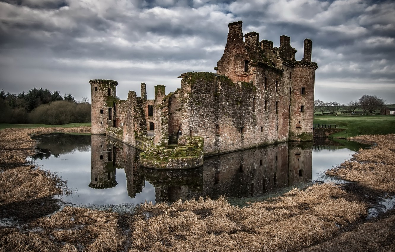Обои Caerlaverock Castle, scotland, руины, замок. Разное foto 6