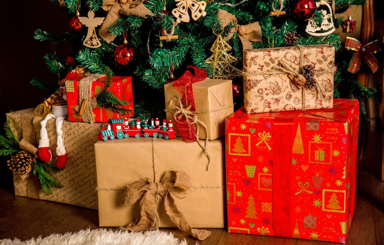 Обои плюшевая, подарки, елка. Лисы foto 17
