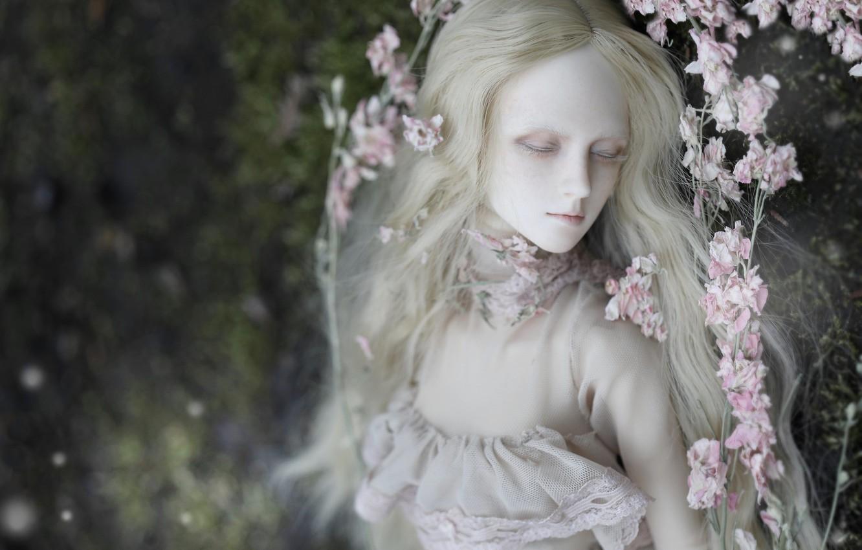 Обои цветы, Кукла, девушка, волосы. Разное foto 9