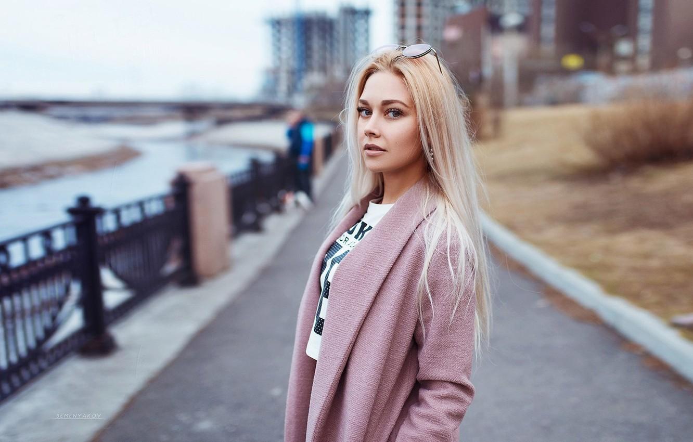 Фото обои волосы, Девушка, очки, блондинка, Semyon Semenyakov
