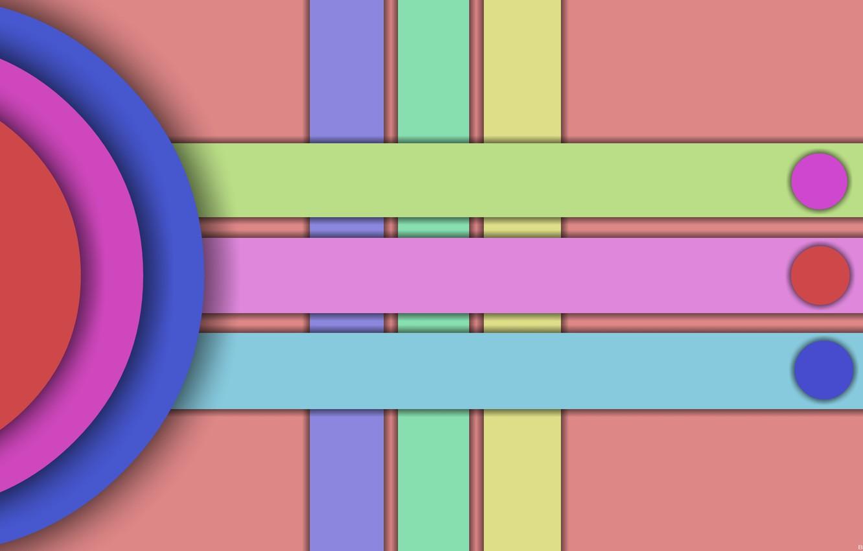 Фото обои круги, тени, фигуры