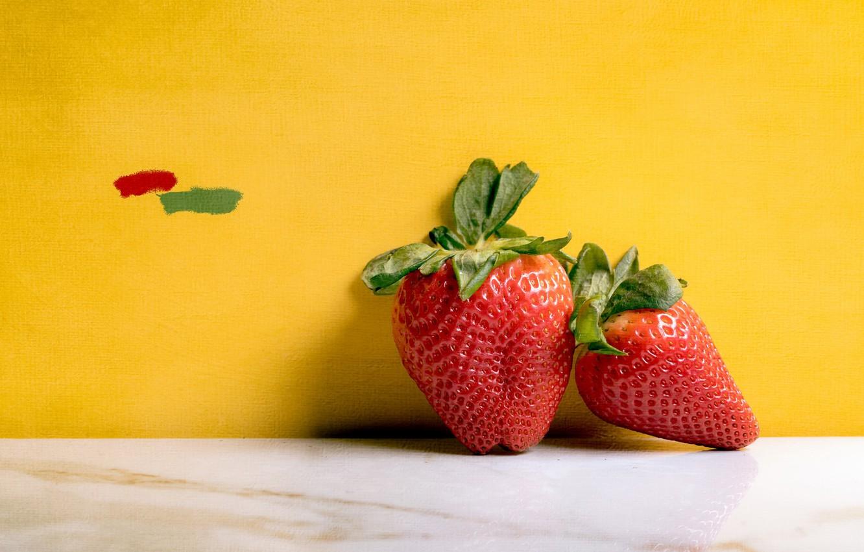 Фото обои ягоды, фон, клубника