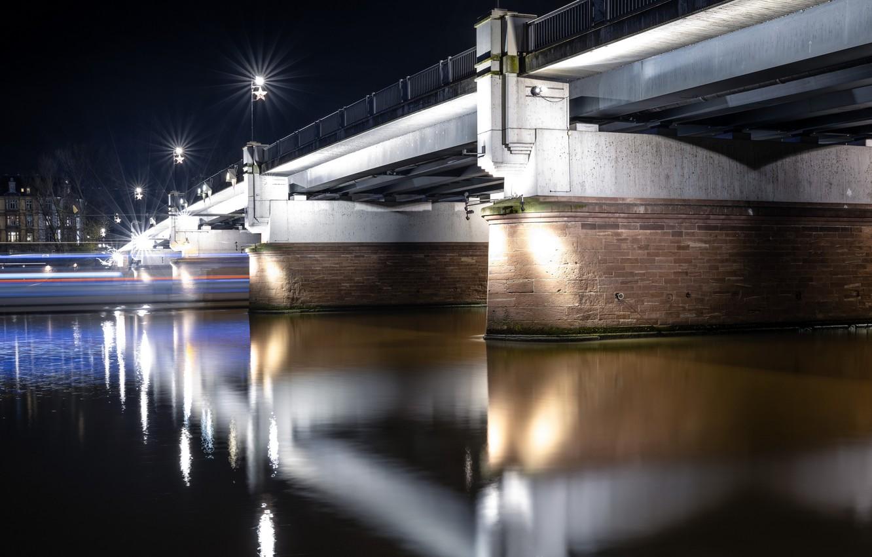 Фото обои Germany, Night, Frankfurt am Main