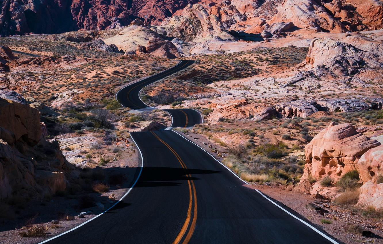 Фото обои дорога, природа, долина