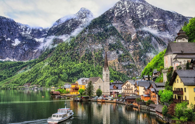 Обои hallstatt, lake hallstatt, австрия, гальштат, austria, alps. Города foto 10