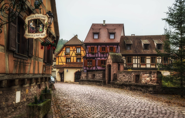 Обои france, Пейзаж, здания, городок, дома. Города foto 15