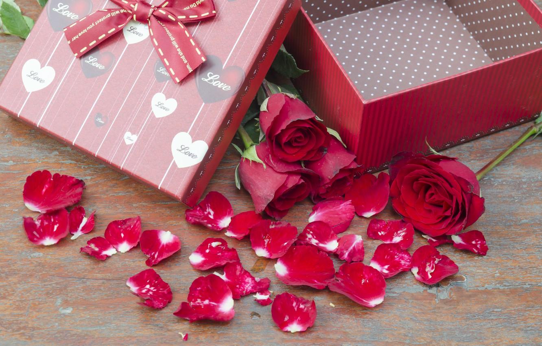 Фото обои цветы, подарок, розы, pink, flowers, romantic, gift, roses, розовые розы, with love