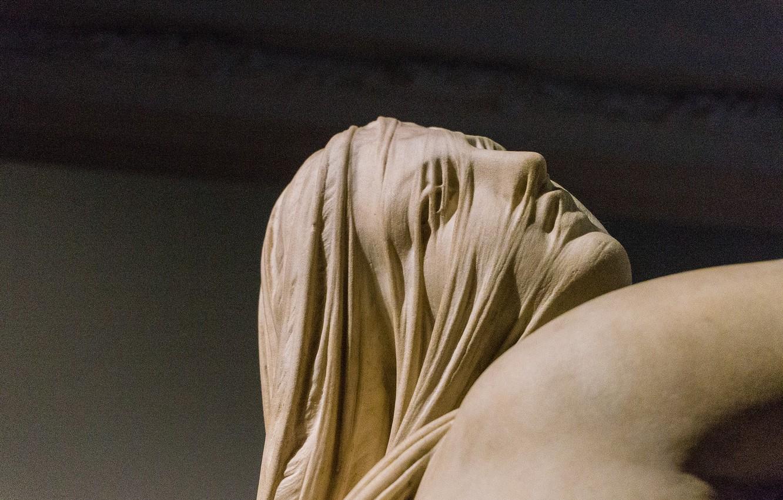 Фото обои женщина, скульптура, музей, италия, рафаэль монти, сон скорби и радость мечты
