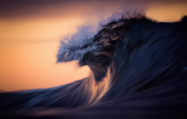 Фото обои море, брызги, природа, океан, волна