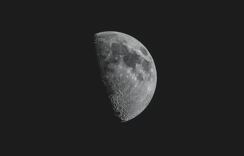 Фото обои space, moon, night