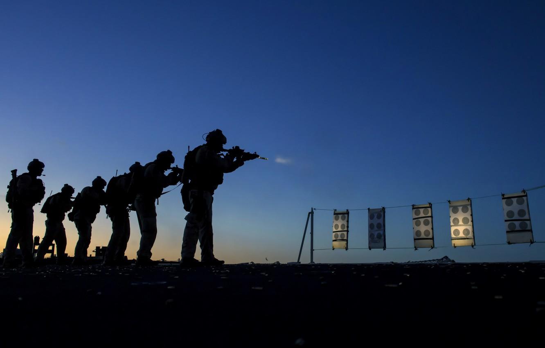 Фото обои оружие, армия, солдаты