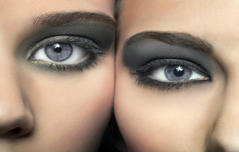 Фото обои глаза, макияж, серые