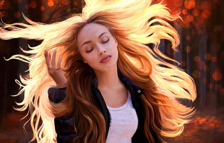 Картинки девушек с развивающими волосами