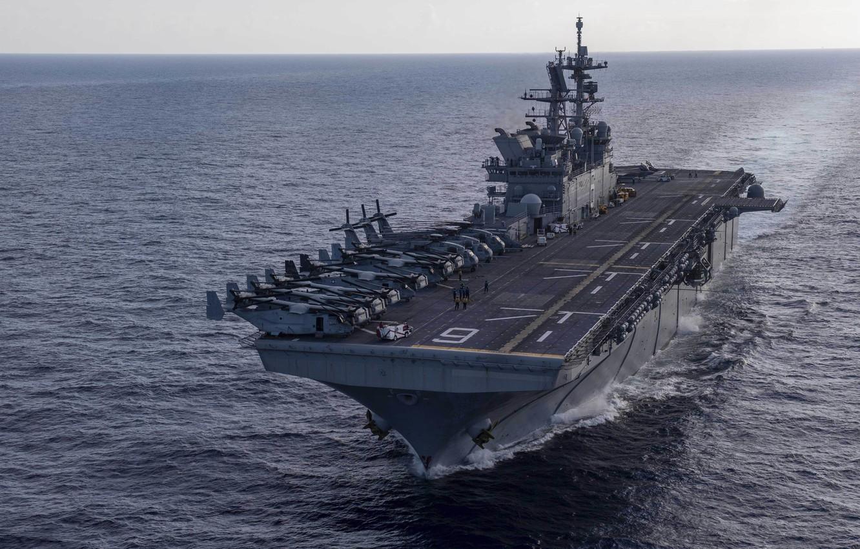 Фото обои USS America, Amphibious assault ship, LHA 6
