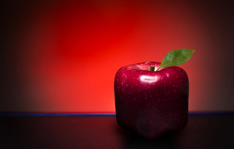 Фото обои яблоко, листик, форма