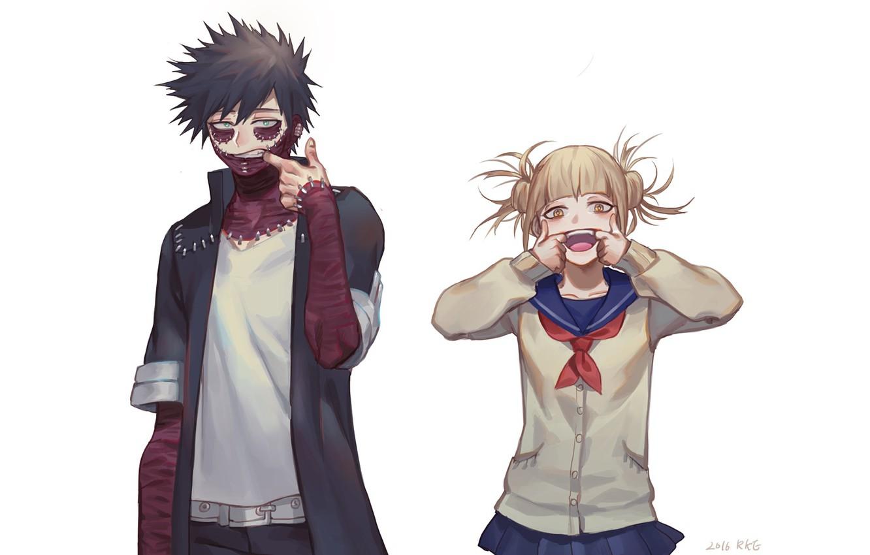 Фото обои аниме, арт, Белый фон, герои, Boku no Hero Academia, Моя геройская академия