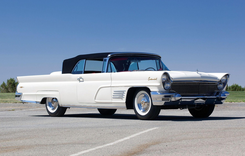 Фото обои 1960, Classic, White, Convertible, Lincoln Continental, Mark V