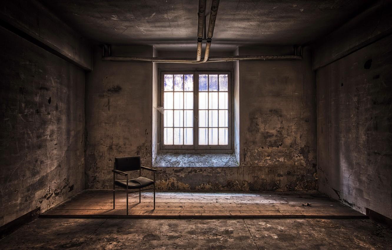 Фото обои комната, окно, стул