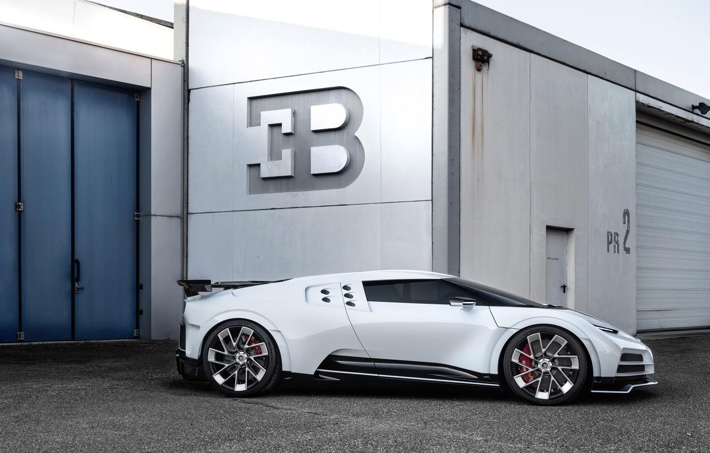 Фото обои машина, фары, ворота, Bugatti, гиперкар, Centodieci