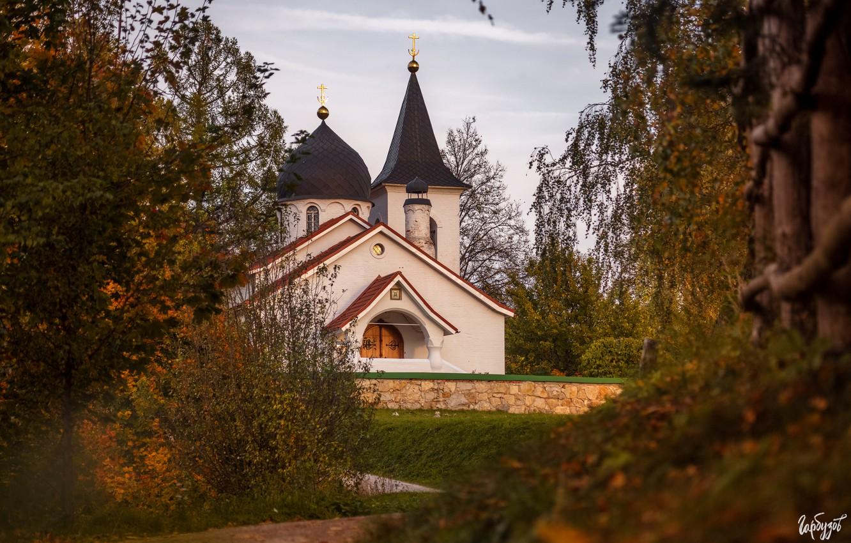 Фото обои природа, Илья Гарбузов, Бёхово, церковь Троицы Живоначальной