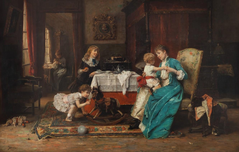 Фото обои 1886, Czech painter, чешский живописец, National Gallery in Prague, Национальная галерея в Праге, oil on …