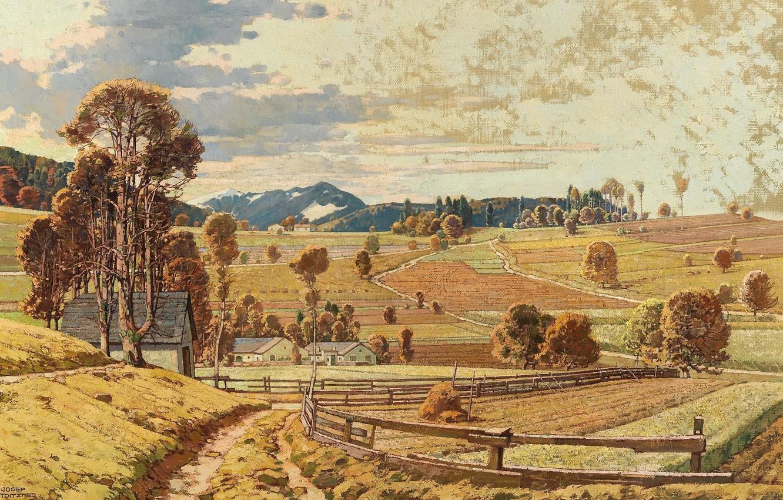 Обои Alois Arnegger, Alois Arnegger, австрийский живописец, Austrian painter, Woodland Landscape in Autumn, Лесной пейзаж осенью, oil on canvas. Разное foto 8