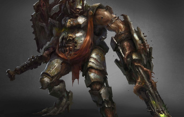 Фото обои оружие, существо, воин, броня, fantasy art, Drock Nicotine