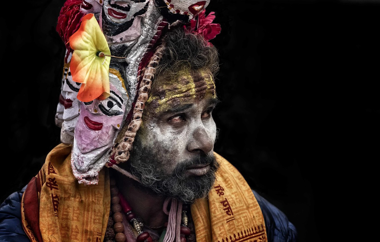 Фото обои Nepal, Kathmandu, Sadhu, Maha Shivaratri, Induismo