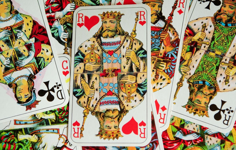 Фото обои карты, игра, король
