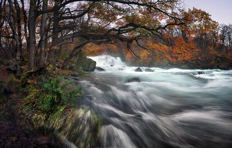Фото обои Argentina, Los Glaciares National Park, Rio de las Vueltas