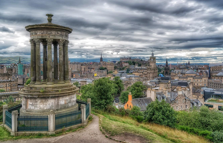 Обои dugald stewart monument, scotland, Шотландия, эдинбург, edinburgh, calton hill. Города foto 8