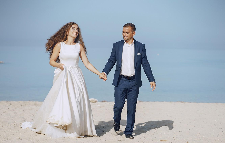 Фото обои любовь, счастье, платье, невеста, жених