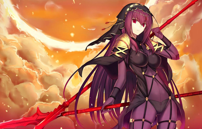 Фото обои девушка, арт, копейщик, лансер, копья, Fate / Grand Order