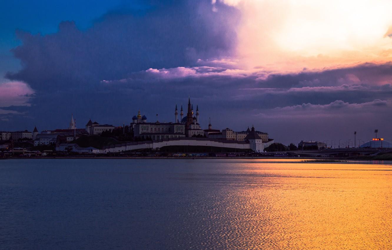 Фото обои Небо, Россия, Казань, Цветокоррекция, Крмель
