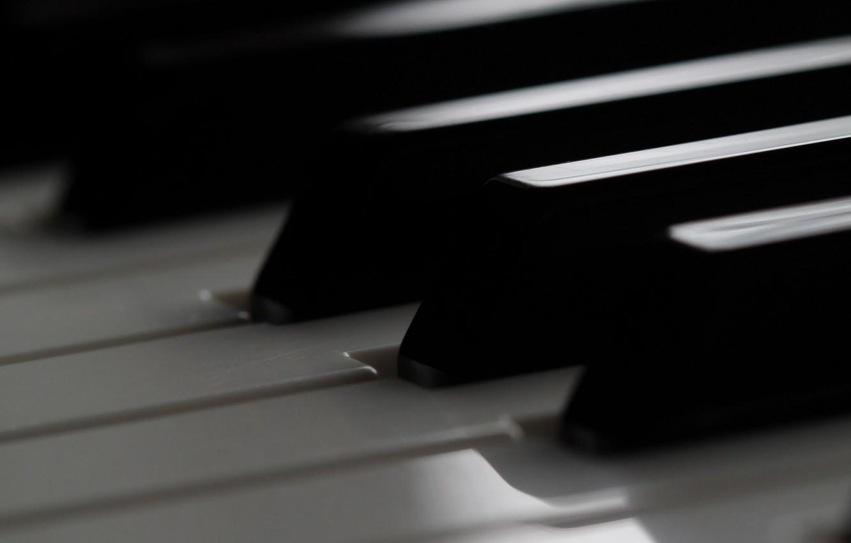 Фото обои макро, клавиши, пианино
