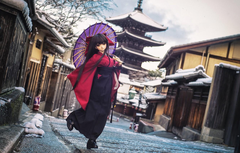 Обои японка, зонтик, Кукла. Разное foto 13